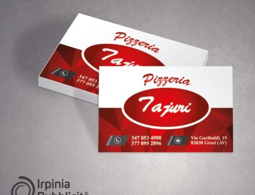 Bigliettini da visita –  Pizzeria Tajuri